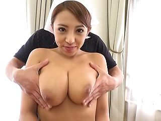 Uchiyama Mai in kinky blowjob POV scene indoors