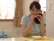 Busty Mishima Natsuko, heavy cock sucking and titjob