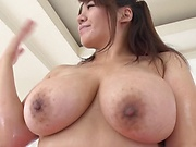 Lusty Asian hotties Haduki Naho and An Mitsuki fuck in threesome
