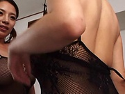 Horny minx are having randy fun with cock and dildo