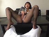 Kaho Shibuya plays with a big dick during work hours picture 15