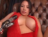 Mako Oda, gets naughty on a dildo picture 14