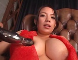 Mako Oda, gets naughty on a dildo picture 15