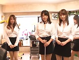 POV blowjob scene involving hot busty Asian babes