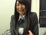 Cute Akane Yoshinaga has her beaver stretched picture 11