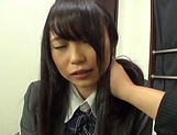 Cute Akane Yoshinaga has her beaver stretched picture 9