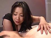Busty Komukai Minako enjoys getting her melons caressed