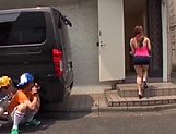 Hardcore vixen Rion Nishikawa moans as she's rimmed picture 12