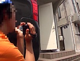Hardcore vixen Rion Nishikawa moans as she's rimmed picture 14
