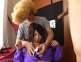 Busty Amayoshi Shizuku has cream on her stretched beaver