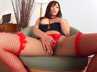 Hot milf in red stockings, hot Japanese porn