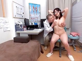Busty Japanese milf hard fucked by her doctor