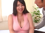 Bombshell with giant boobs Yuuki Lori enjoys hardcore pounding