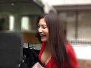 Juicy Japanese girl Meguri gets pleasure of titfuck