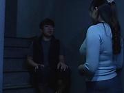Yurai Chitose got cum on her big tits