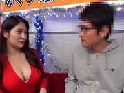 Asian hottie with big breasts Meguri gets hairy pussy creamed