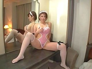 Curvaceous Japanese milf Oshikawa Yuuri masturbates and plays a solo