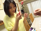 Alluring hot honey Kaho Shibuya in raunchy toy session picture 3