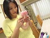 Alluring hot honey Kaho Shibuya in raunchy toy session picture 4