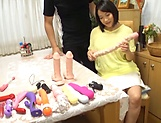 Alluring hot honey Kaho Shibuya in raunchy toy session picture 5
