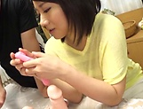 Alluring hot honey Kaho Shibuya in raunchy toy session picture 6