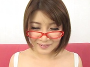Oshikawa Yuuri teases while in a sexy pantyhose
