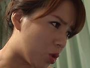 Mishima Natsuko sucks on a meaty ramrod