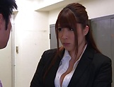 Hot luscious teacher Chitose Saegusa rides cock wildly picture 4