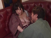 Busty Japanese woman got fucked hard