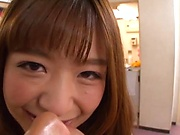 Very sexy Japanese sweetie in bikini gets her hairy twat banged in pov