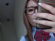Buxom babe in glasses Kimino Natsu gets titfucked really hard