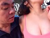 Alluring Japanese babe Kirishima Sakura nailed outdoors picture 11