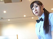 Lustful Japanese gives the world's best titjob
