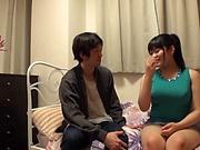 Appetizing milf Saitou Miyu thrilling sex indoors