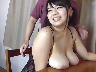 Mika Konishi has her huge boobs erotically manipuated