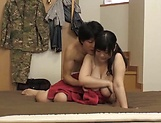 Naughty Japanese babe Mikoto Yatsuka plays porn queen