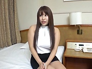 Classy Japanese cougar gets her hairless pussy creampied