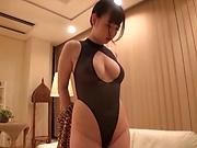 Big tits honey enjoying spicy pussy delighting