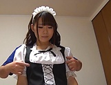 Busty Japanese maid Kawane Kurumi fucked by her boss