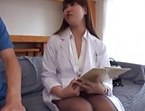 Naughty nurse performs a cute tit fuck picture 12