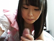 Akane Yoshinaga pleasures a pulsating ramrod