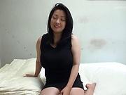 Cock starved milf Komukai Minako wildly sucks a hard pole