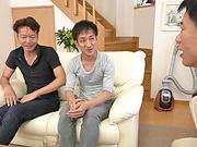 Japanese milf gets her huge boobs fucked enjoys cum on tits