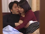 Kaho Shibuya,gets crazy in a voyeur scene