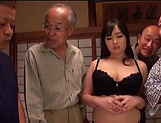 Nonami Shizuka pleasures multiple schlongs picture 1