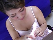 Yazawa Manami seeking pleasure from dildos