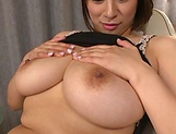 Chubby brunette is using a vibrator