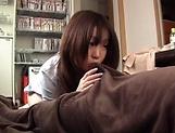 Lovely hottie Kisaki Mikoto passionately sucks a hard pole picture 13
