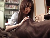 Lovely hottie Kisaki Mikoto passionately sucks a hard pole picture 14