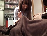 Lovely hottie Kisaki Mikoto passionately sucks a hard pole
